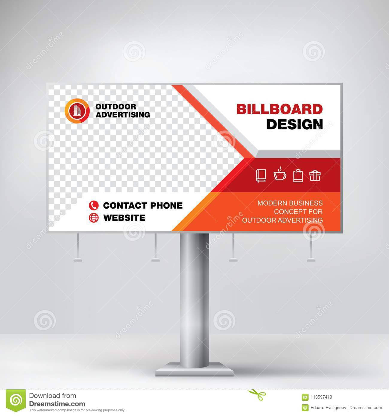 Billboard Design, Template Banner For Outdoor Advertising with Outdoor Banner Design Templates