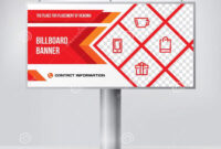 Billboard Design, Template Banner For Outdoor Advertising with regard to Outdoor Banner Design Templates