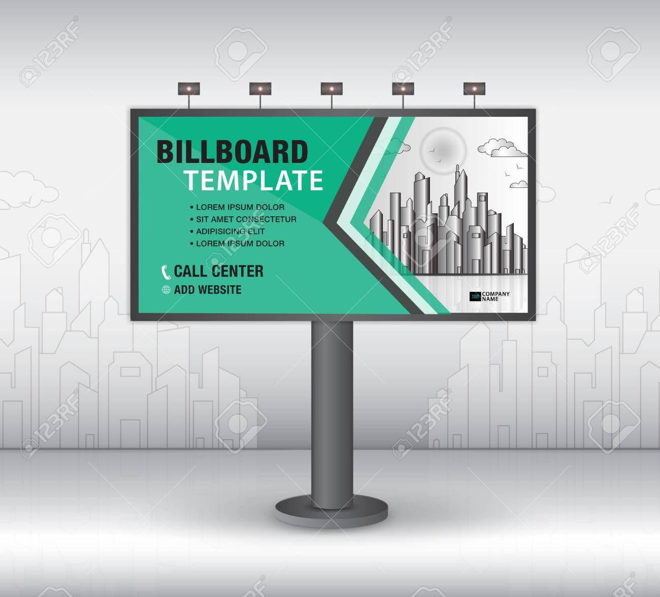Billboard Design Vector, Banner Template, Advertisement, Realistic.. within Outdoor Banner Design Templates