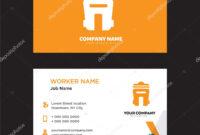 Bin Business Card Design — Stock Vector © Vector_Best #194926186 with regard to Bin Card Template