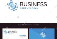 Bio, Dna, Genetics, Technology Blue Business Logo And inside Bio Card Template