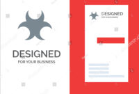 Bio Hazard Sign Science Grey Logo Stock Vector (Royalty Free regarding Bio Card Template