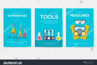 Biohazard Chemists Brochure Cards Set. Chemistry Lab throughout Science Fair Banner Template