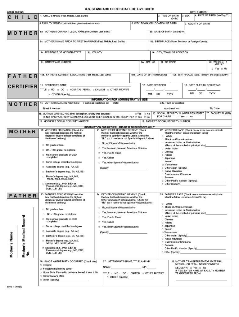 Birth Certificate Generator - Fill Online, Printable throughout Editable Birth Certificate Template