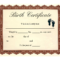 Birth Certificate Template | Printable Baby Birth Pertaining To Blank Marriage Certificate Template