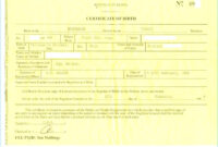 Birth Certificate Template Us Sample New Fabulous 10 Best throughout Birth Certificate Template Uk