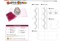 Birthday Cake Pop Up Card Template | Pop Up Card Templates Regarding Templates For Pop Up Cards Free