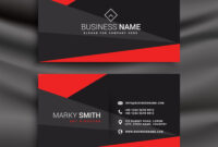 Black And Red Business Card Template With intended for Visiting Card Templates Download
