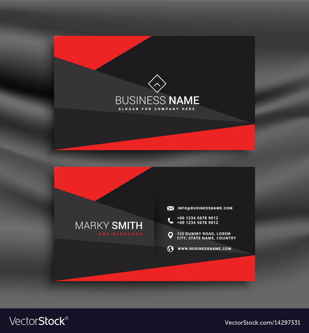 Black And Red Business Card Template With With Regard To Buisness Card Template
