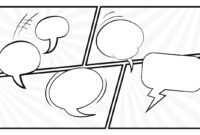 Black And White Comic Layout Powerpoint Template in Comic Powerpoint Template