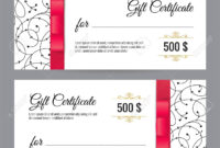 Black And White Gift Voucher Template With Floral Pattern And.. Regarding Black And White Gift Certificate Template Free
