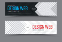 Black And White Horizontal Web Banner Template With Regard To Website Banner Templates Free Download