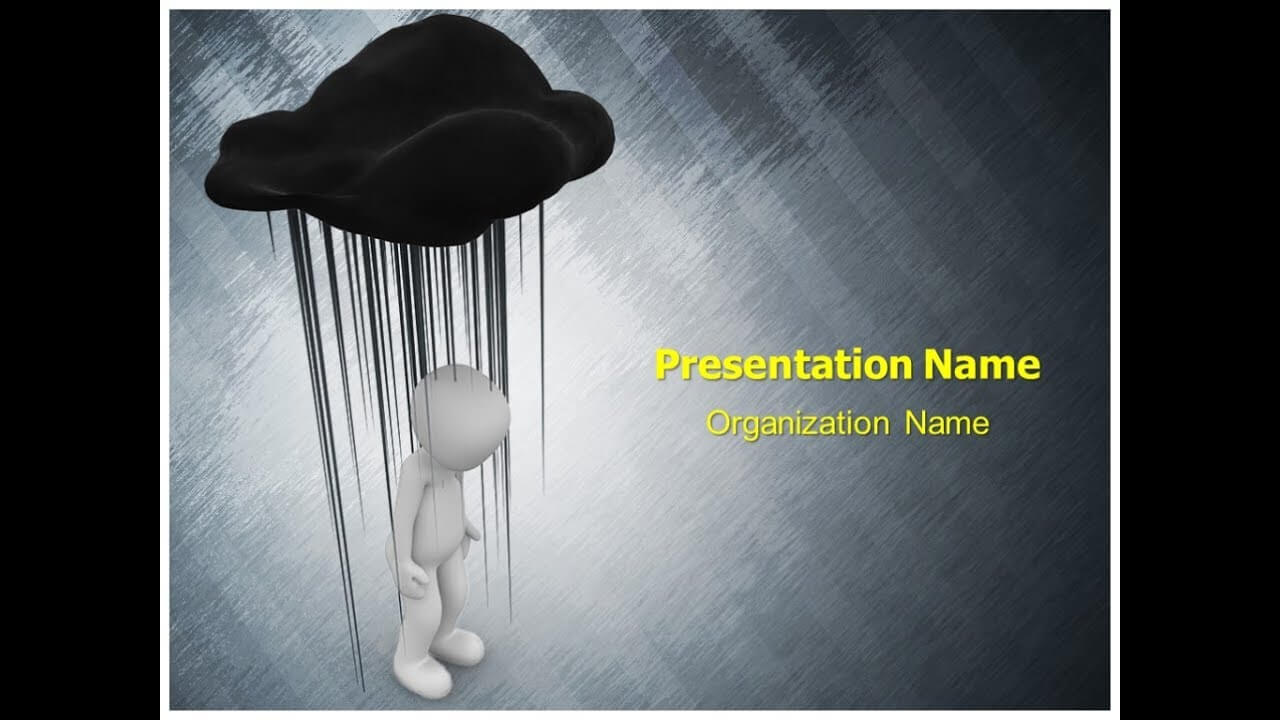 Black Cloud Depression Powerpoint Template Ppt Design within Depression Powerpoint Template