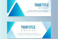 Blank Abstract Design Banner Illustration | Free Image regarding Free Blank Banner Templates
