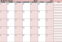 Blank Activity Calendar Template 28 Templates And For Blank with regard to Blank Activity Calendar Template