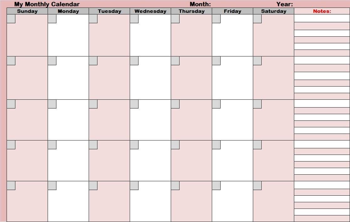 Blank Activity Calendar Template 28 Templates And For Blank with regard to Blank Activity Calendar Template