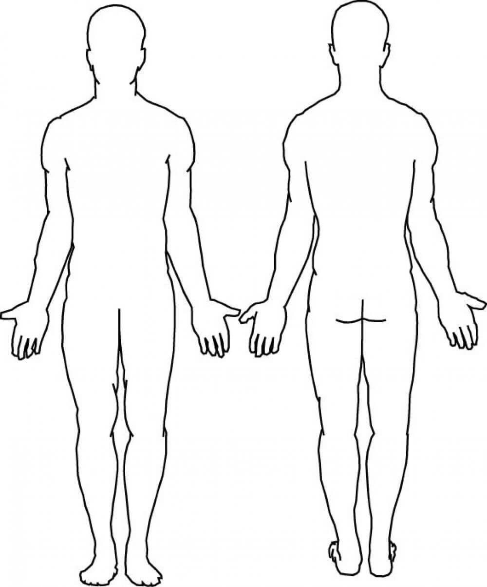 Blank Body | Body Template, Body Outline, Human Body Diagram Throughout Blank Body Map Template