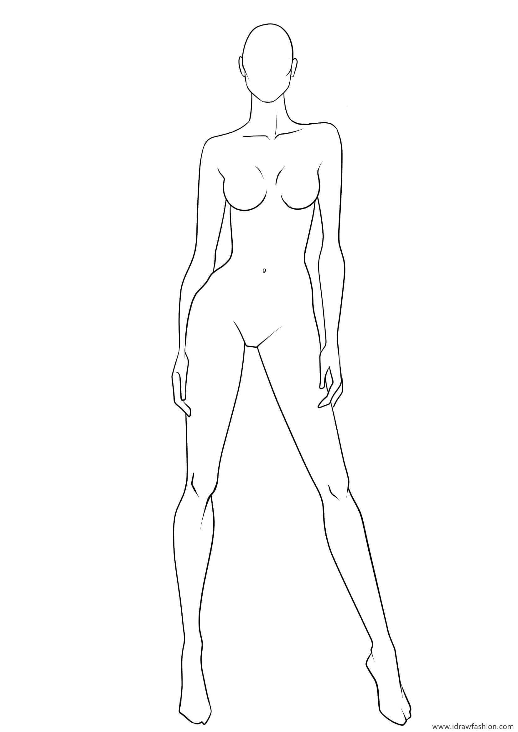 Blank Body Sketch At Paintingvalley   Explore Collection in Blank Model Sketch Template