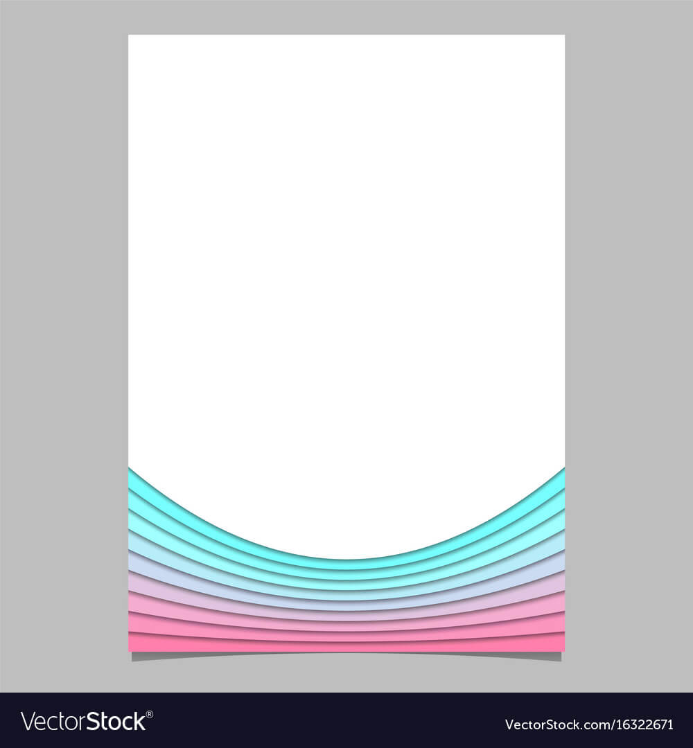 Blank Brochure Template From Curves - Flyer For Blank Templates For Flyers