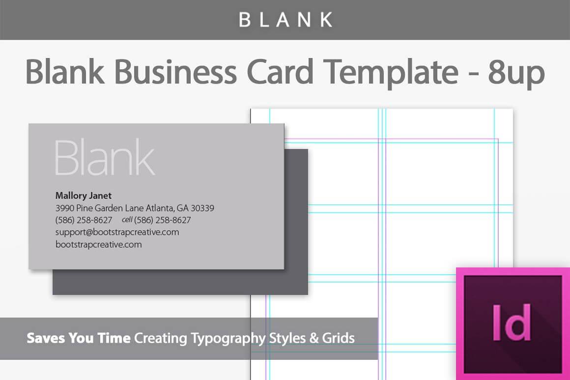 Blank Business Card Indesign Template regarding Birthday Card Template Indesign