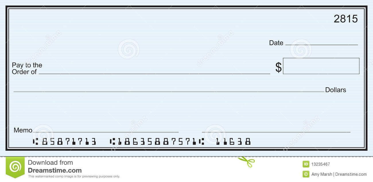 Blank Business Check Template | Blank Check | Printable Throughout Blank Business Check Template