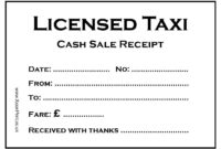 Blank Cab Receipts (7) | Budget Spreadsheet intended for Blank Taxi Receipt Template