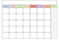 Blank Calendar Kid Friendly   One Page Calendar Printable within Blank Calendar Template For Kids