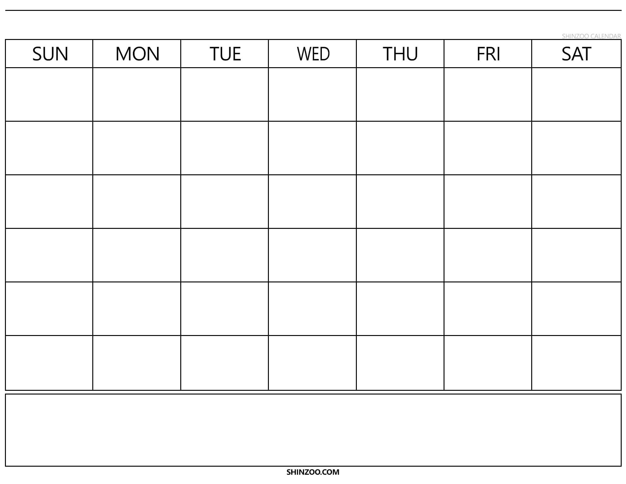 Blank Calendar Template 2019 2020 Printable with regard to Blank Calender Template