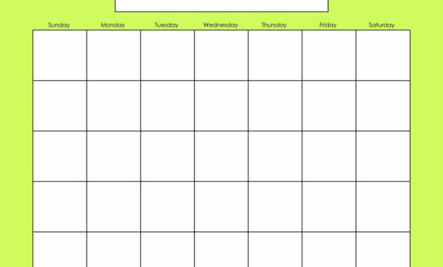 Blank Calendars Activity Calendars | Blank Calendar Pages inside Blank Activity Calendar Template