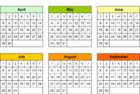 Blank Calendars – Free Printable Microsoft Word Templates within Month At A Glance Blank Calendar Template