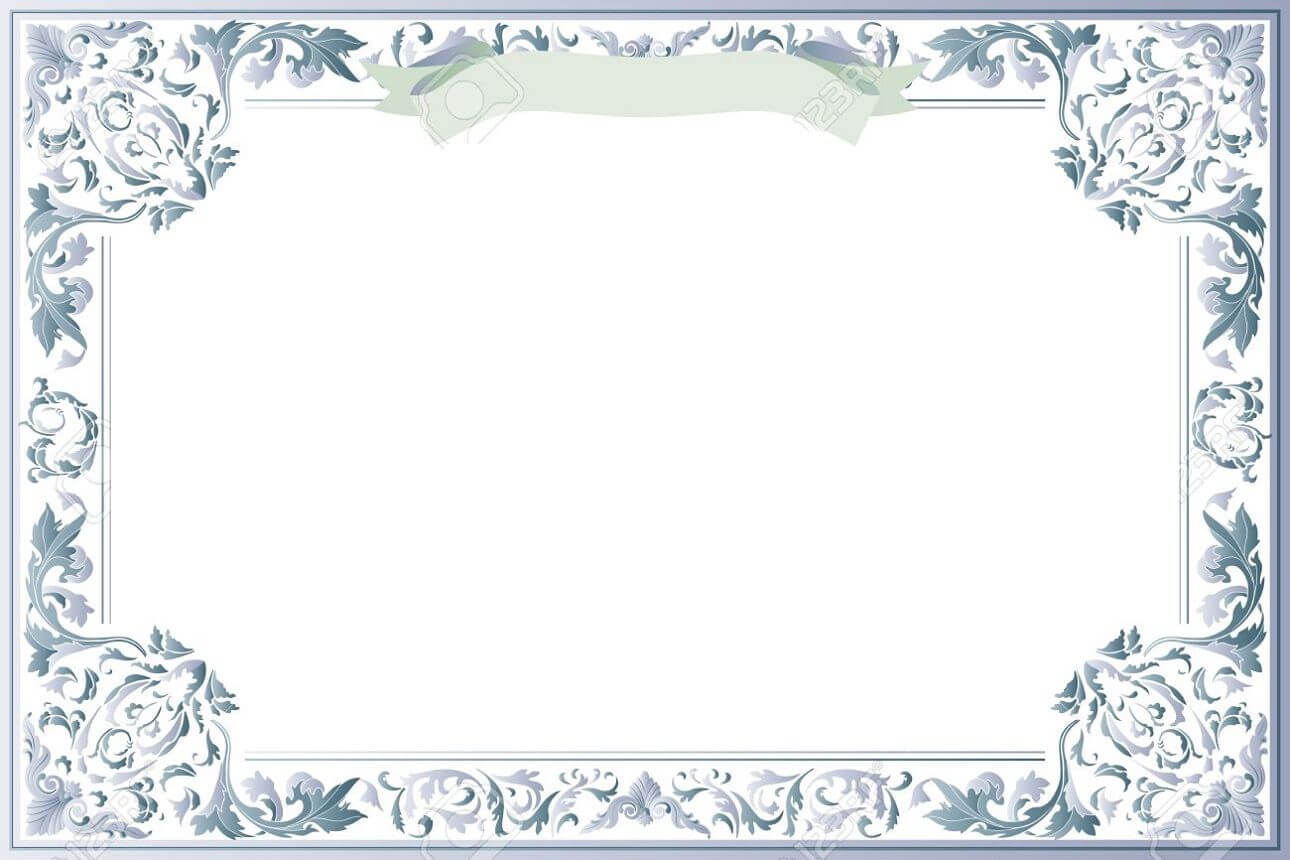 Blank Certificate Template For Best Solution   Blank Inside Award Certificate Border Template