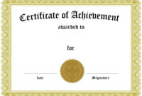 Blank Certificate Templates To Print | Certificate Of throughout Dinner Certificate Template Free