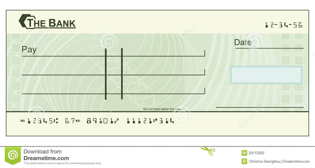 Blank Cheque Illustration Stock Vector. Illustration Of with Blank Cheque Template Download Free