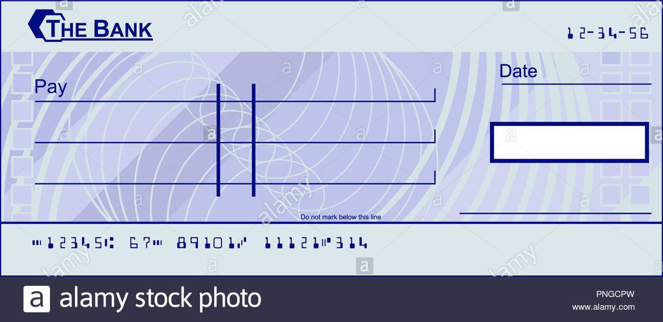 Blank Cheque Stock Photos & Blank Cheque Stock Images - Alamy with Blank Cheque Template Uk