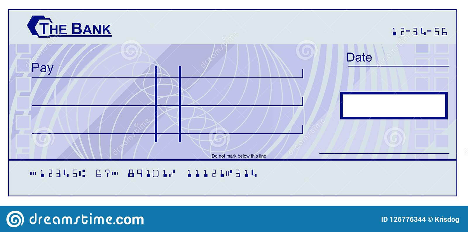 Blank Cheque Stock Vector. Illustration Of Design, Blue within Blank Cheque Template Download Free