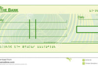 Blank Cheque Stock Vector. Illustration Of Document, Cheque With Regard To Blank Cheque Template Download Free