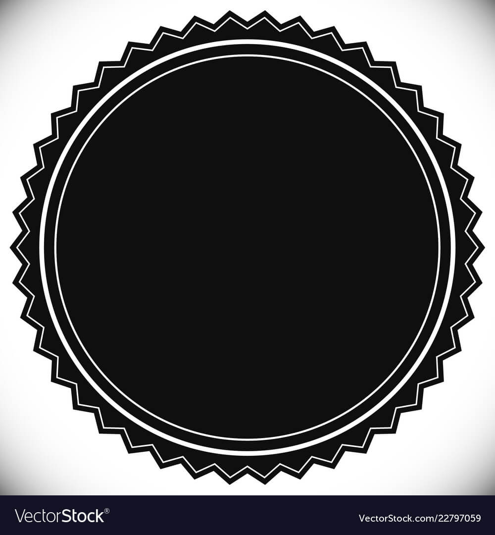 Blank Empty Stamp Seal Or Badge Template Inside Blank Seal Template