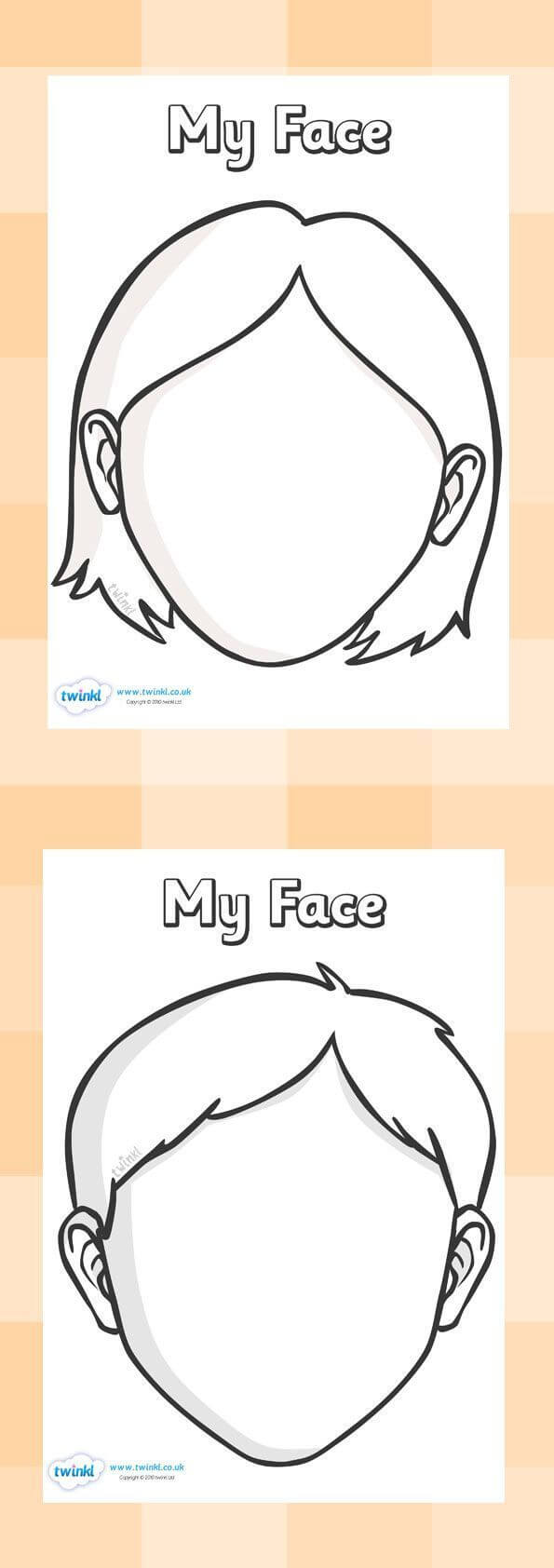 Blank Faces Templates. Free Printables - Children Can Draw For Blank Face Template Preschool