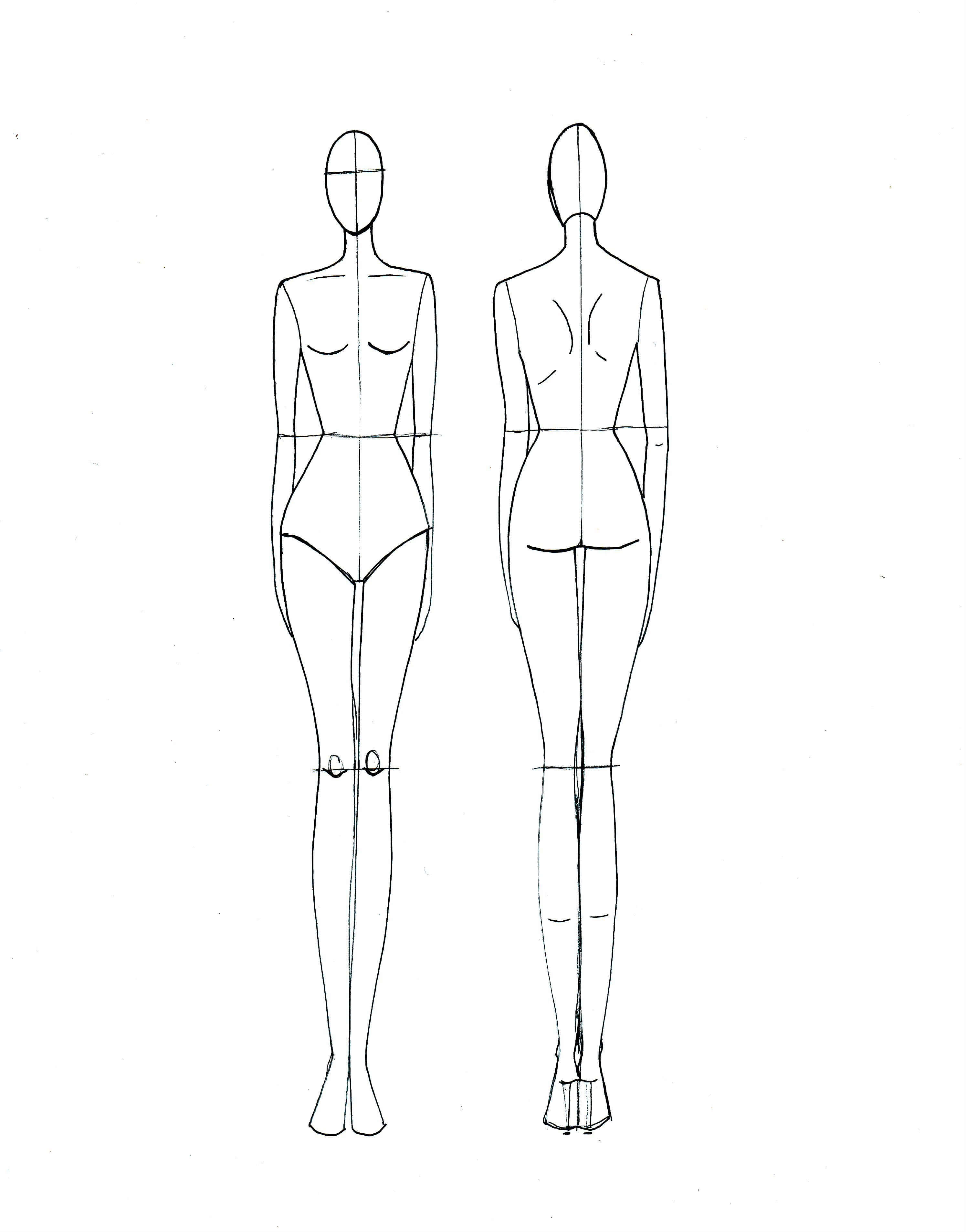 Blank Fashion Design Models In 2019 | Fashion Illustration In Blank Model Sketch Template