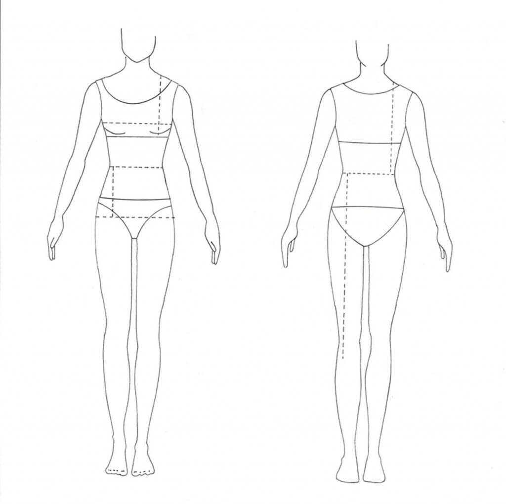 Blank Fashion Model Template | Contoh Soal Dan Materi With Blank Model Sketch Template