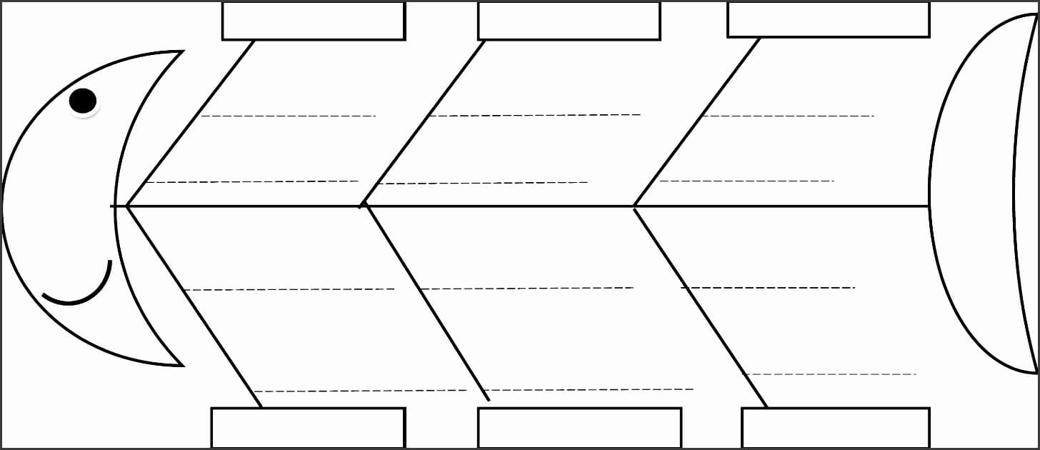 Blank Fishbone Diagram Template Awesome 5 Line Fishbone Intended For Blank Fishbone Diagram Template Word