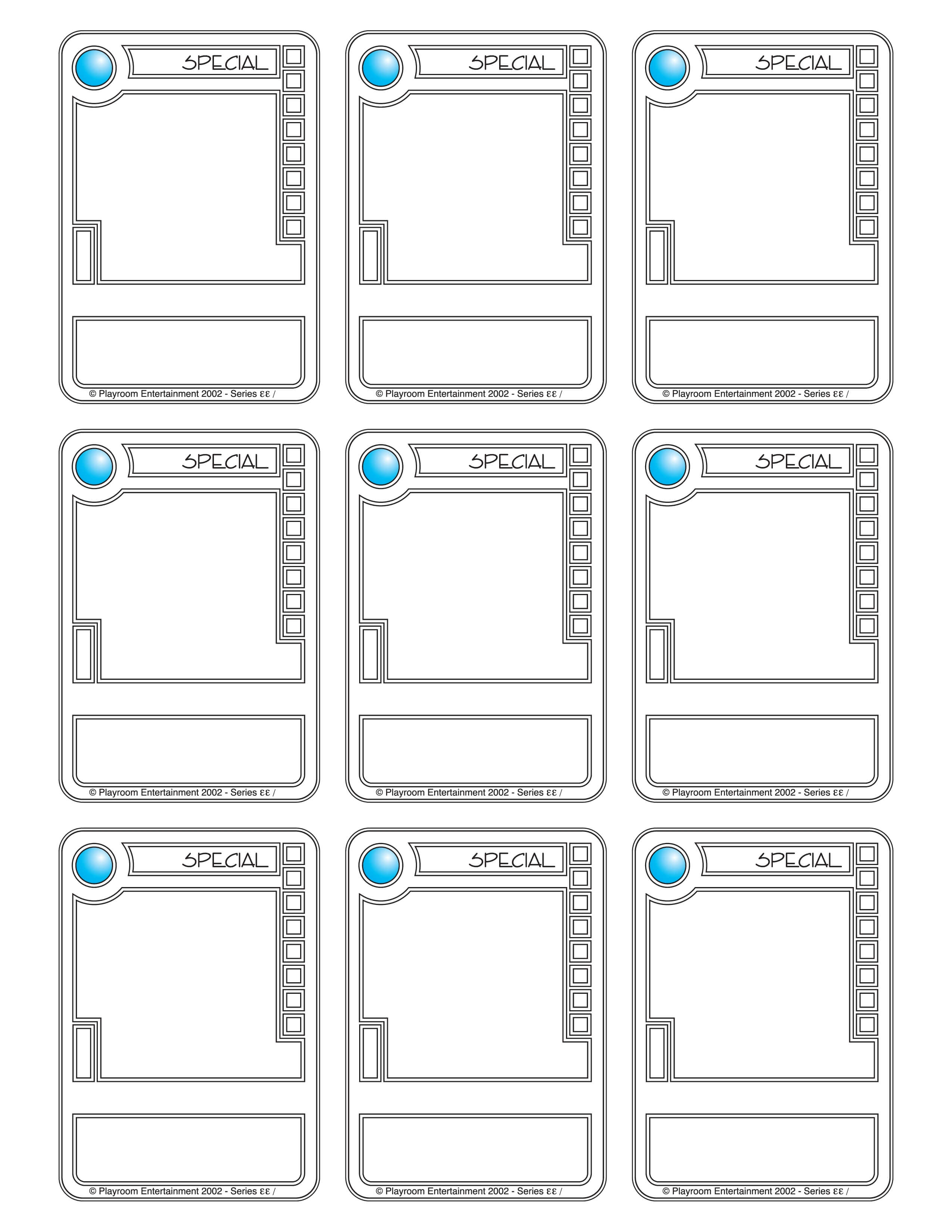 Blank Game Card Template | Theveliger Pertaining To Blank Playing Card Template
