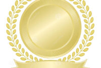 Blank Gold Seal Stock Vector. Illustration Of Seal, Wreath pertaining to Blank Seal Template