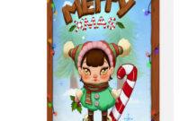 Blank Holiday Christmas Greeting Card Mockups – Psd Mockups inside Christmas Photo Card Templates Photoshop