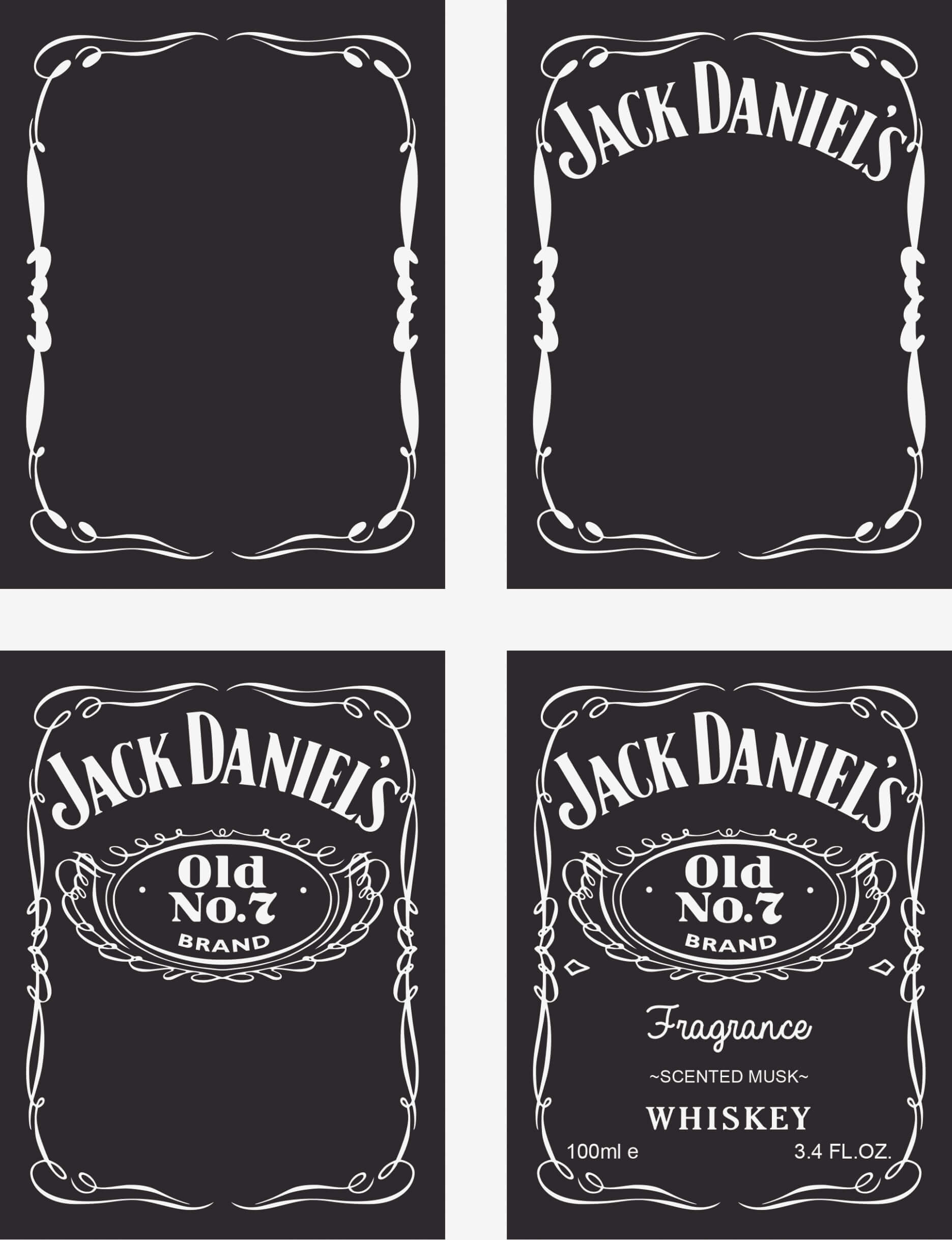 Blank Jack Daniels Label Template - Atlantaauctionco For Blank Jack Daniels Label Template