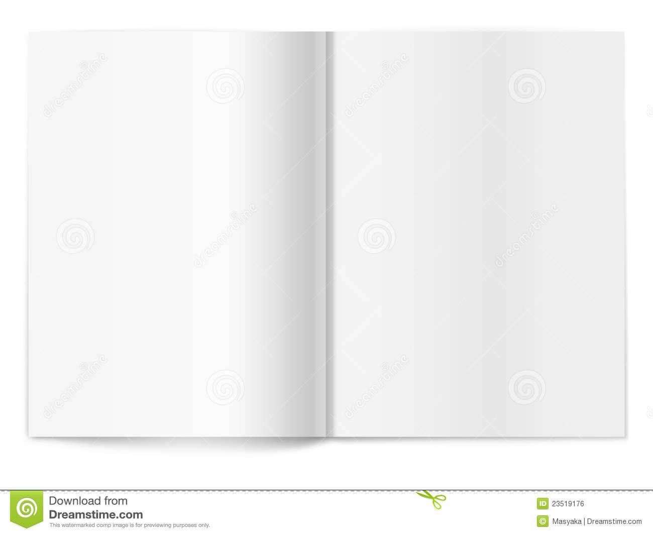 Blank Magazine Spread. Template For Design Stock Vector throughout Blank Magazine Spread Template