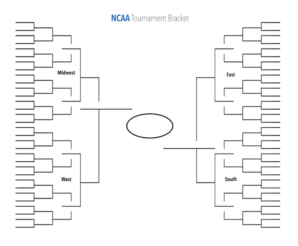 Blank Ncaa Tournament Brackets To Print For Men's March in Blank Ncaa Bracket Template
