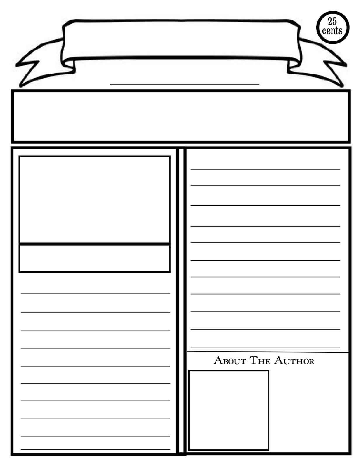 Blank Newspaper Template For Kids Printable | Newspaper With News Report Template