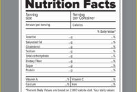 Blank Nutrition Label Template – Andon.australianuniversities.co pertaining to Blank Food Label Template