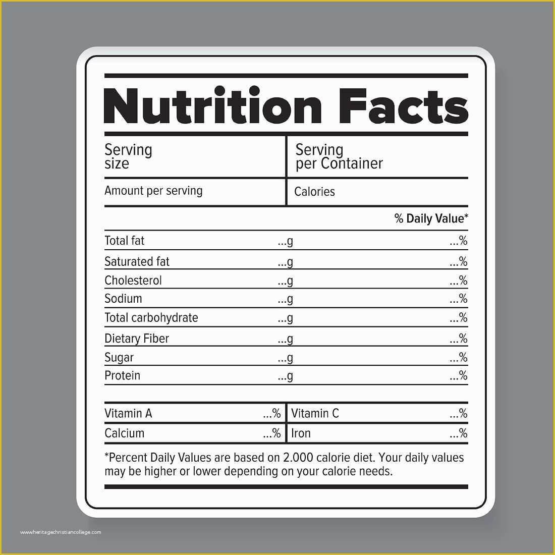 Blank Nutrition Label Template - Andon.australianuniversities.co pertaining to Blank Food Label Template